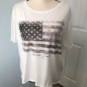 MNG Jeans graphic t shirt American flag